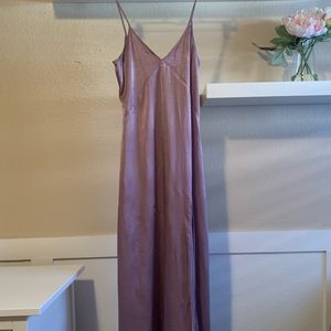LEITH long maxi dress with side slit